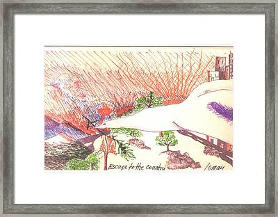 Escape To The Country Framed Print by Rod Ismay