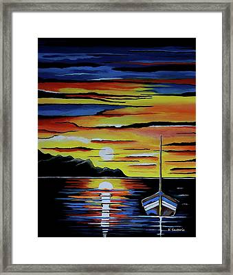 Escape To The Sea Framed Print by Kathleen Sartoris