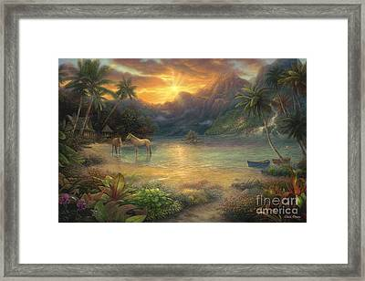 Escape To Tranquility Framed Print by Chuck Pinson