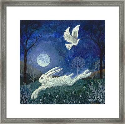 Escape With A Blessing Framed Print by Lise Winne