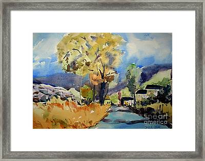 Escapeto The Country Matted Glassed Framed Framed Print by Charlie Spear