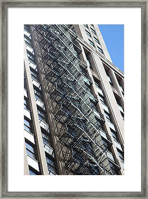 Escaping A Chicago Brownstone Framed Print
