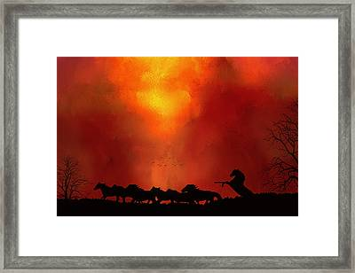 Escaping The Inferno Framed Print