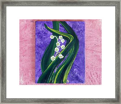 Escaping Winter Lilly Of The Valley Framed Print