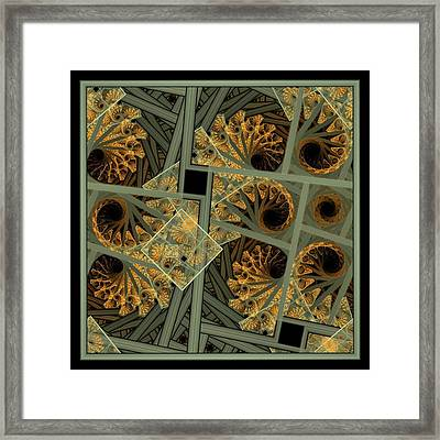 Escher Grey-fern Framed Print