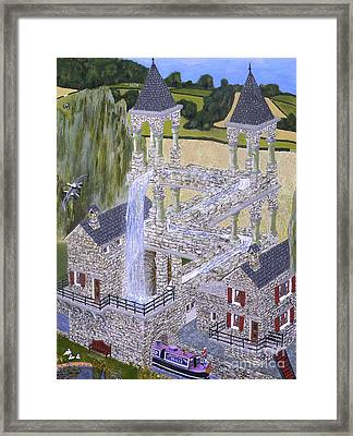 Framed Print featuring the painting Escher's Mill Landscaped And Painted By Eric Kempson by Eric Kempson