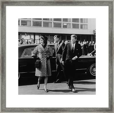 Escorted By President Kennedy Framed Print
