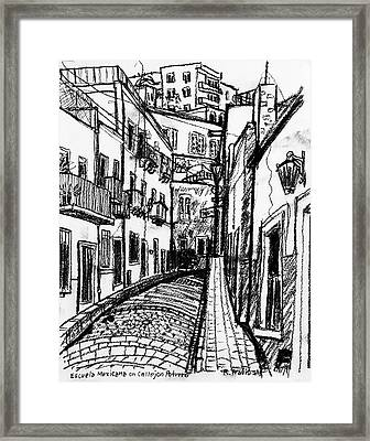Escuela Mexicana Framed Print by Rich Travis