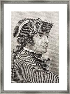Esek Hopkins 1718 -1802. Commander In Framed Print by Vintage Design Pics