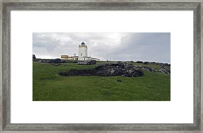 Eshaness Lighthouse Framed Print by Steve Watson