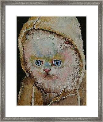 Eskimo Kitten Framed Print by Michael Creese