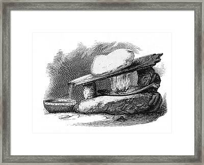 Eskimo Snow Melter From Arctic Framed Print by Vintage Design Pics