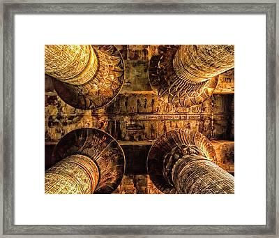 Esna Capitals Framed Print