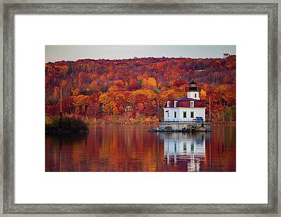 Esopus Lighthouse In Late Fall #1 Framed Print by Jeff Severson