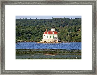 Framed Print featuring the photograph Esopus Lighthouse In Summer #4 by Jeff Severson