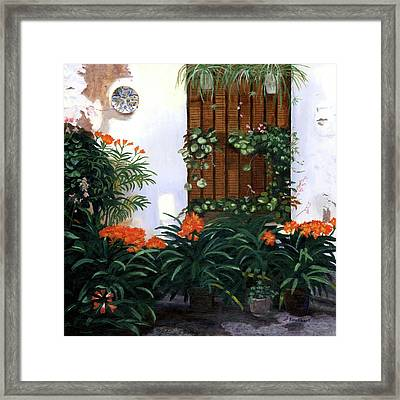 Framed Print featuring the painting Espana by Lynne Reichhart