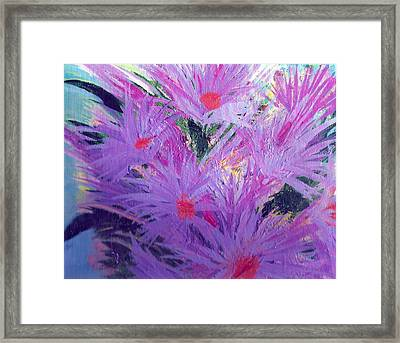 Especially For You Lavender Lovers Framed Print by Anne-Elizabeth Whiteway