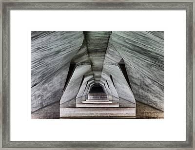Esplanade-bridge Framed Print by Martin Fleckenstein