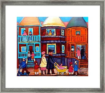 Esplanade Street Sabbath Walk Framed Print by Carole Spandau