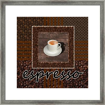 Espresso - Coffee Art Framed Print by Anastasiya Malakhova