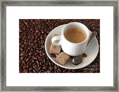 Espresso Coffee Framed Print by Carlos Caetano