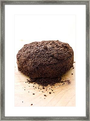 Espresso Coffee Grounds Framed Print by Frank Tschakert
