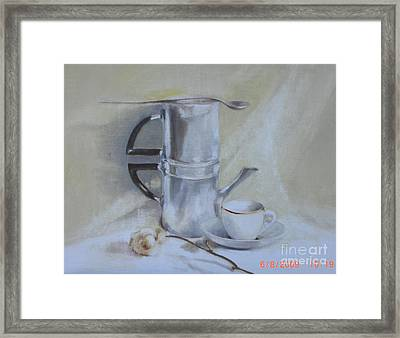 Espresso For One          Copyrighted Framed Print by Kathleen Hoekstra