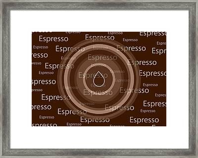 Espresso Framed Print by Frank Tschakert