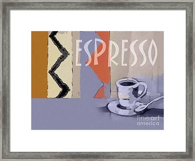 Espresso Poster Framed Print