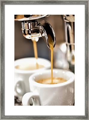 Espresso Framed Print by Ralf Kaiser