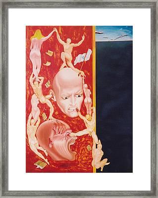 Essay On Non Lucidity Framed Print by Romeo Niram