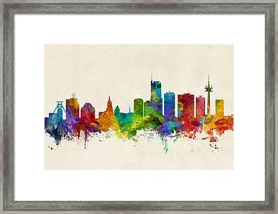 Essen Germany Skyline Framed Print