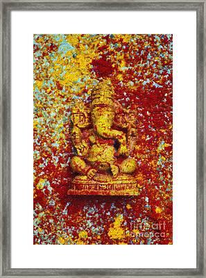 Essence Of Ganesha Framed Print by Tim Gainey