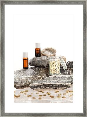 Essential Oil From Cardamom Framed Print by Wolfgang Steiner