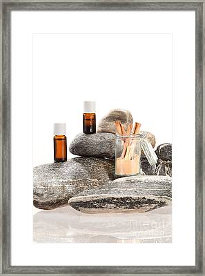 Essential Oil From Cinnamon Bark Framed Print by Wolfgang Steiner