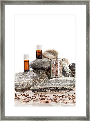 Essential Oil From Clove Framed Print by Wolfgang Steiner