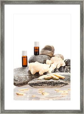 Essential Oil From Ginger Framed Print