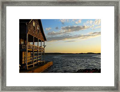 Essex Beach House Framed Print