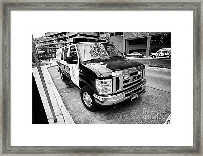 essex county sheriff ford van patrol vehicle Boston USA Framed Print