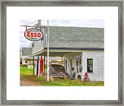 Esso Gas Staion Framed Print