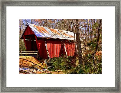 Est. 1909 Campbell's Covered Bridge Framed Print