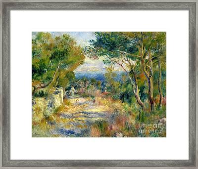 Estaque Framed Print by Renoir