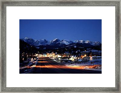 Estes At Dawn Framed Print