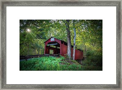 Framed Print featuring the photograph Esther Furnace Bridge by Marvin Spates