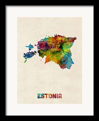 Estonia Digital Art Framed Prints