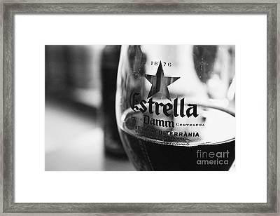 Estrella Damm Framed Print