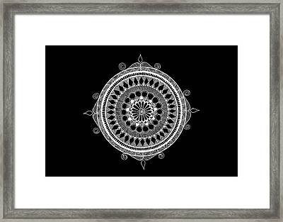 Estrella Mandala Framed Print