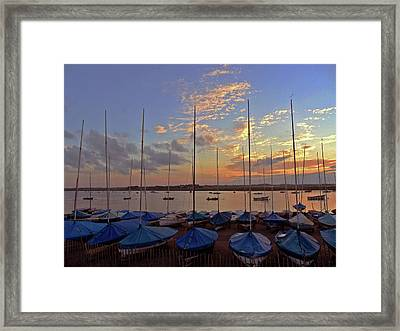 Framed Print featuring the photograph Estuary Evening by Anne Kotan