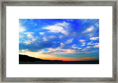 Estuary Skyscape Framed Print