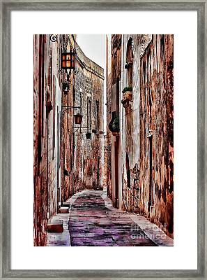 Etched In Stone Framed Print by Tom Prendergast
